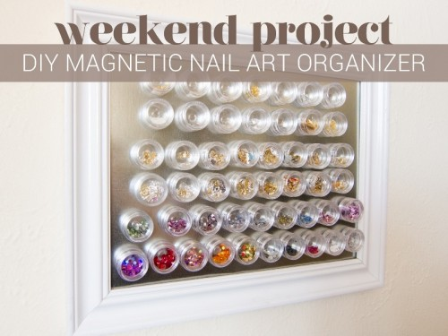 Simple DIY Magnetic Nail Art Organizer