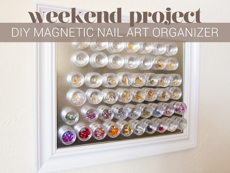 Picture Of simple diy magnetic nail art organizer  1