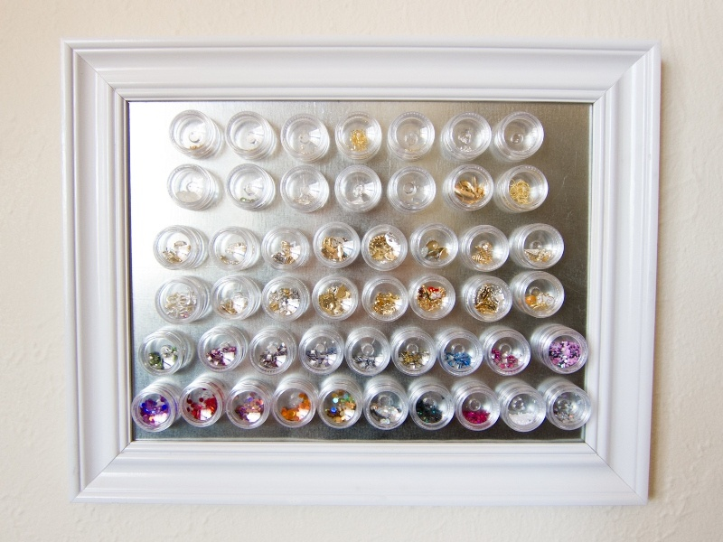 Picture Of simple diy magnetic nail art organizer  3