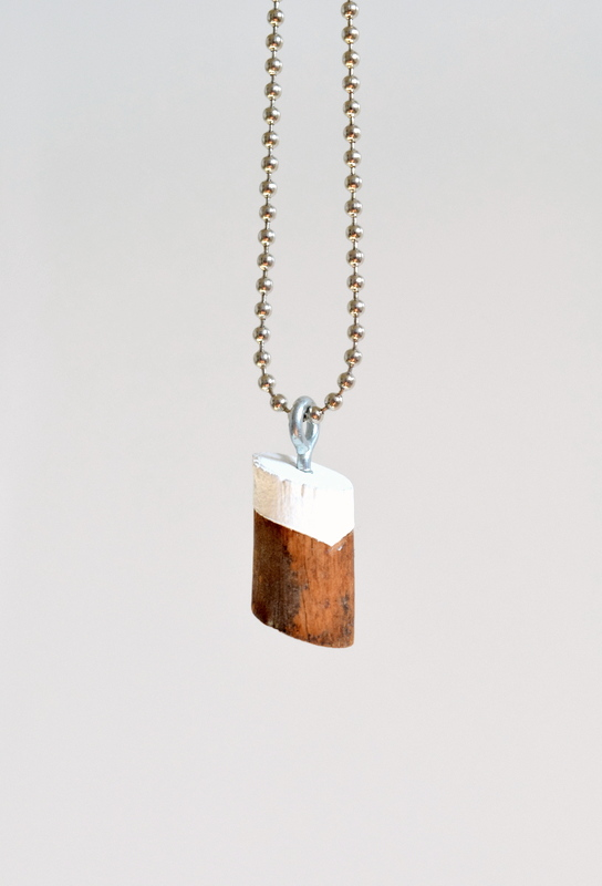 Picture Of simple diy painted wood knot necklace  1