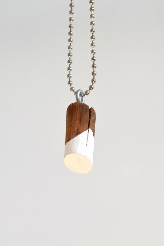 Picture Of simple diy painted wood knot necklace  5