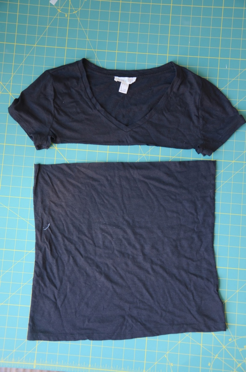 Picture Of simple shirt to dress refashion  2