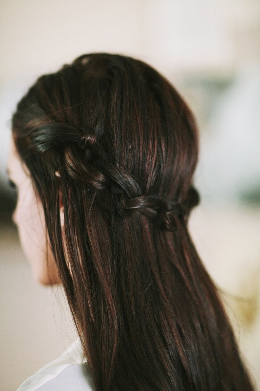 Picture Of simple yet fancy diy knotted crown hairstyle  4