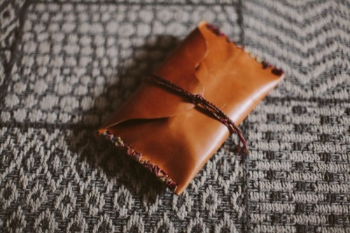 Small And Easy DIY Leather Jewelry Pouch