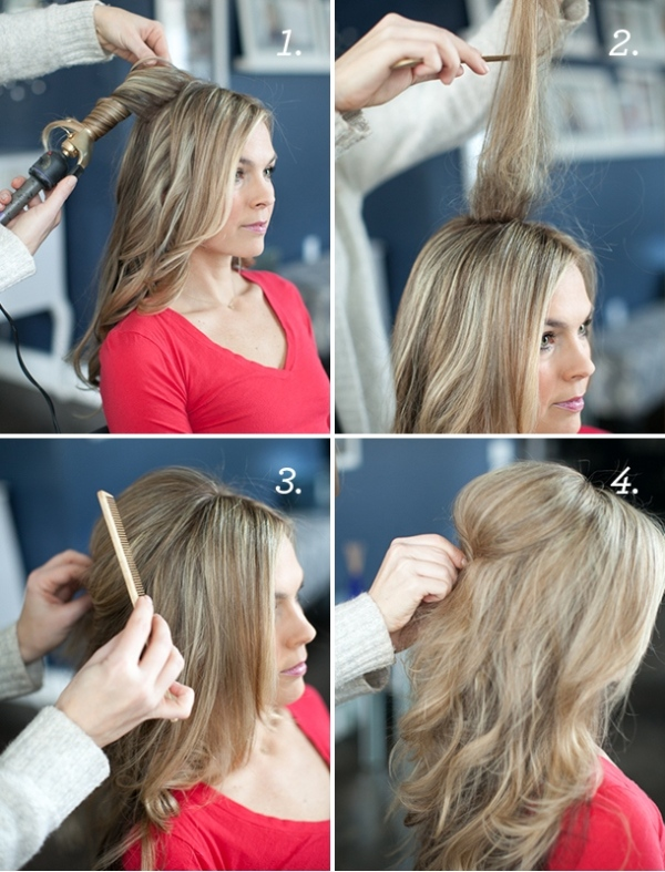 Picture Of soft and lovely diy half up hairstyle with a bow  2