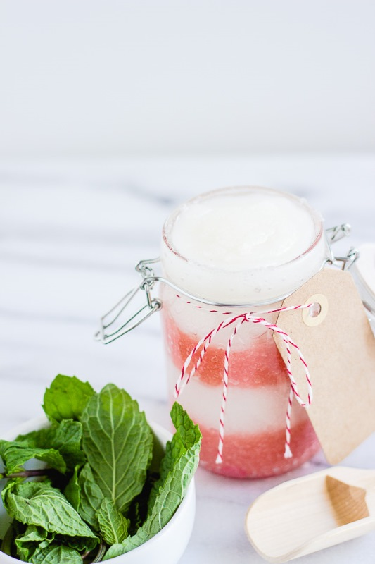 Picture Of soothing and relaxing diy peppermint sugar scrub  2