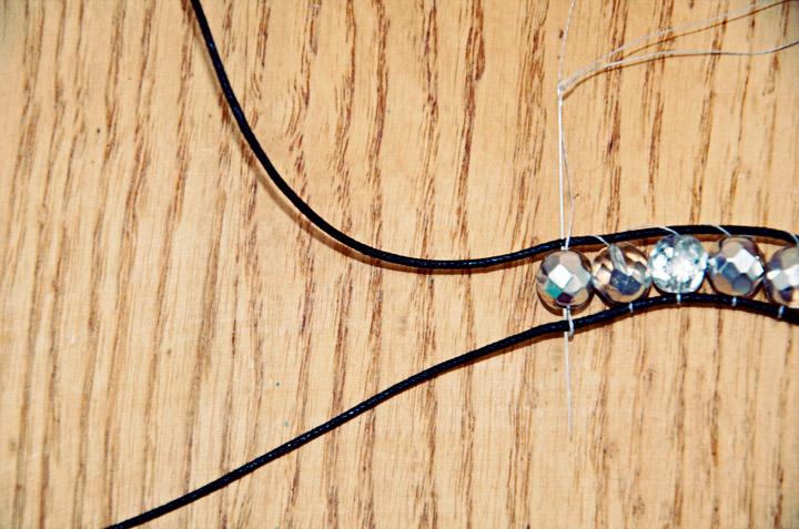 Picture Of sparkling diy wrap beads bracelet  6