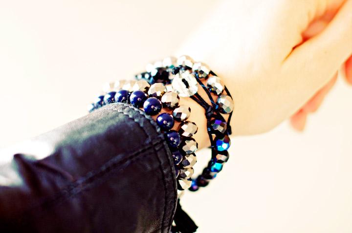 Picture Of sparkling diy wrap beads bracelet  8
