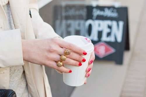 Sparkly DIY Two Finger Statement Ring