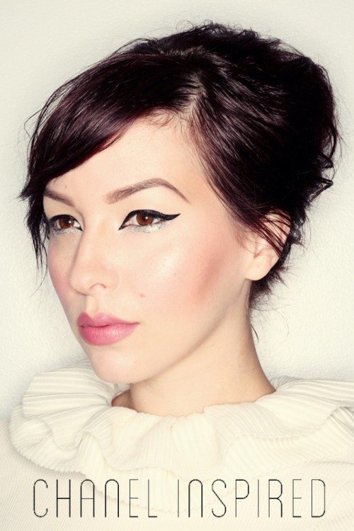 Sparkly Silver DIY Makeup Inspired By Chanel Haute Couture 2014 Looks