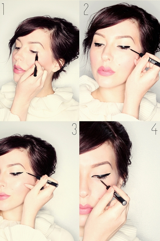 Picture Of sparkly silver diy makeup inspired by chanel haute couture 2014 looks  2