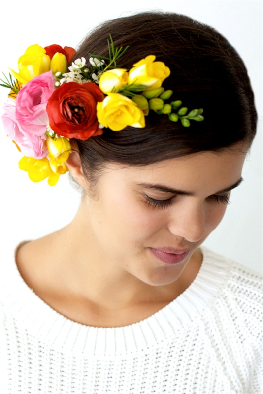 Picture Of spring perfect diy flower headpiece  1