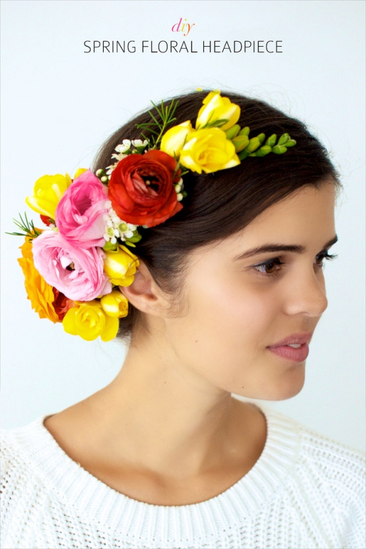 Picture Of spring perfect diy flower headpiece  7
