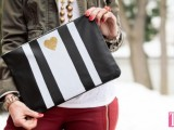 striped-diy-leather-clutch-with-a-heart-pattern-1