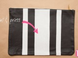 striped-diy-leather-clutch-with-a-heart-pattern-5