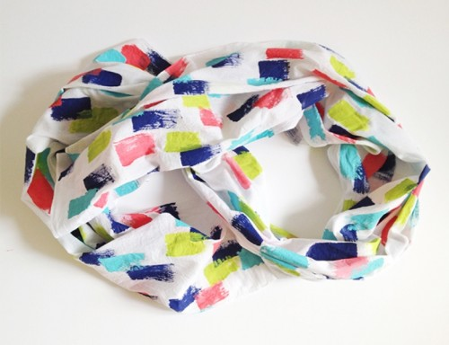 brush stroke fall scarf