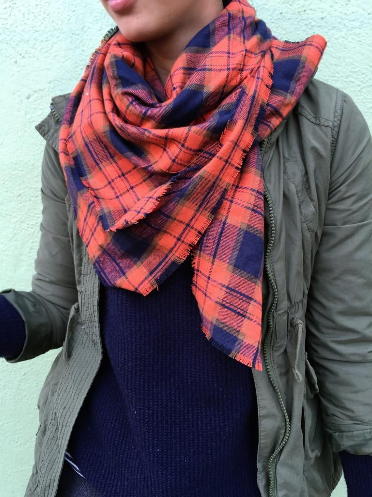 fall plaid scarf