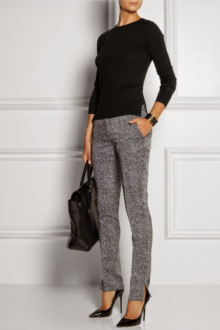 Picture Of stylish and comfy sweater work outfits for girls  1
