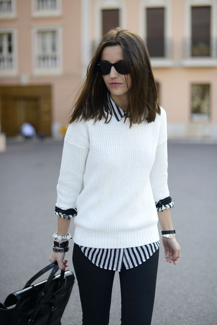 Picture Of stylish and comfy sweater work outfits for girls  16