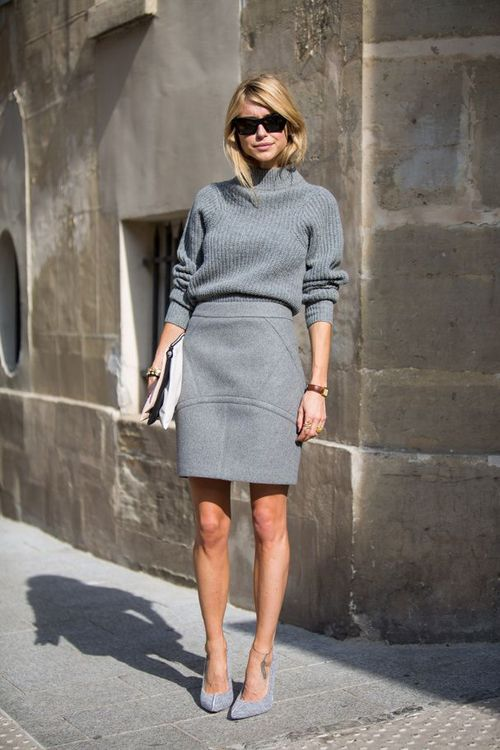 Picture Of stylish and comfy sweater work outfits for girls  20