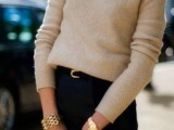 stylish-and-comfy-sweater-work-outfits-for-girls-4