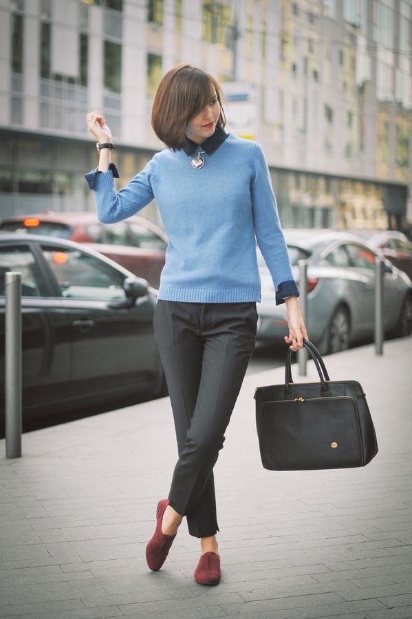 Picture Of stylish and comfy sweater work outfits for girls  7
