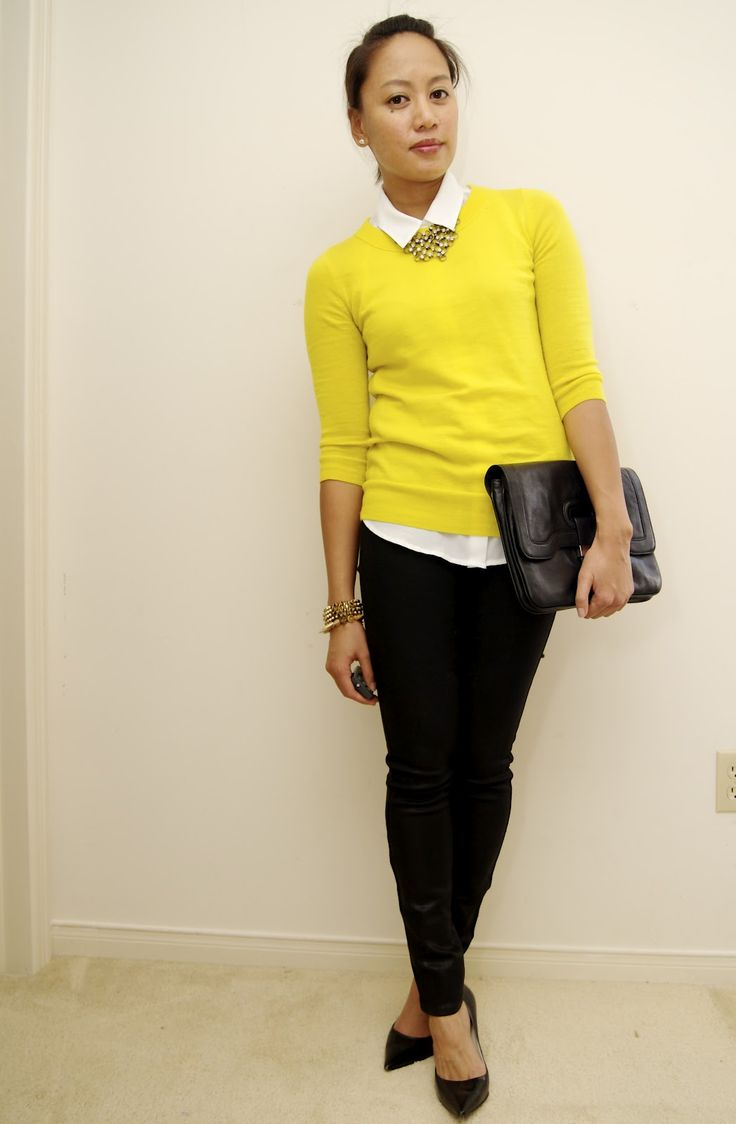Picture Of stylish and comfy sweater work outfits for girls  8