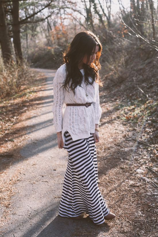 Picture Of stylish and comfy winter maxi skirt outfits  1
