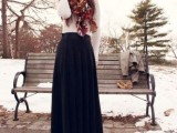 stylish-and-comfy-winter-maxi-skirt-outfits-21