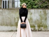 stylish-and-comfy-winter-maxi-skirt-outfits-22