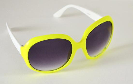 Painted Neon Sunglasses DIY