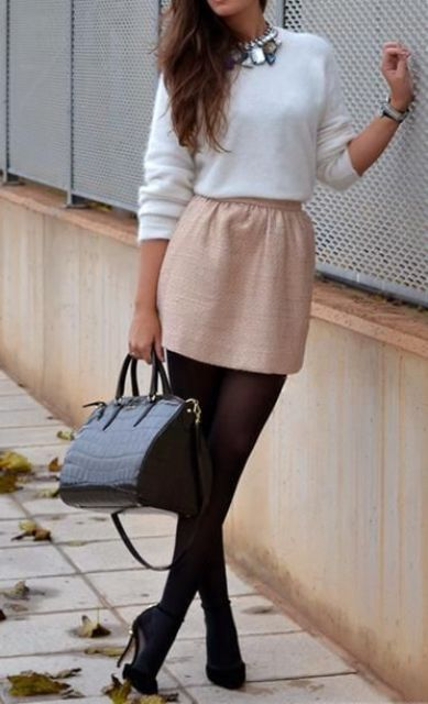 Picture Of stylish and edgy work outfits for winter 2013 2014  1