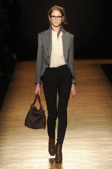 Picture Of stylish and edgy work outfits for winter 2013 2014  6