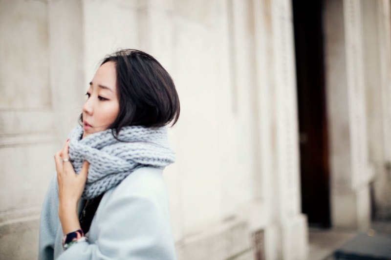 Picture Of stylish and lovely diy knitted snood  1