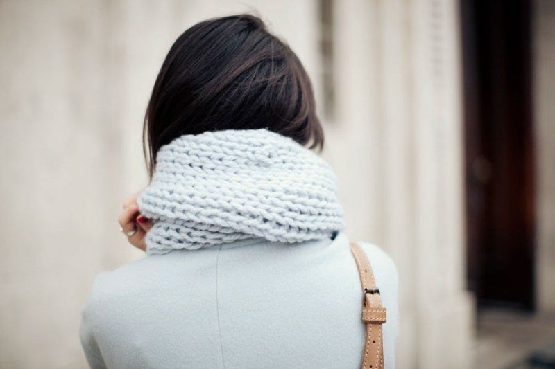 Picture Of stylish and lovely diy knitted snood  5