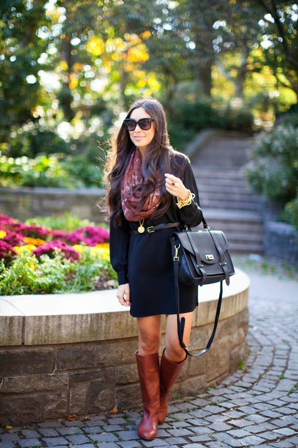 Picture Of stylish and sexy work looks with high boots  10