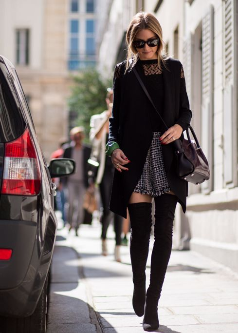 Picture Of stylish and sexy work looks with high boots  13