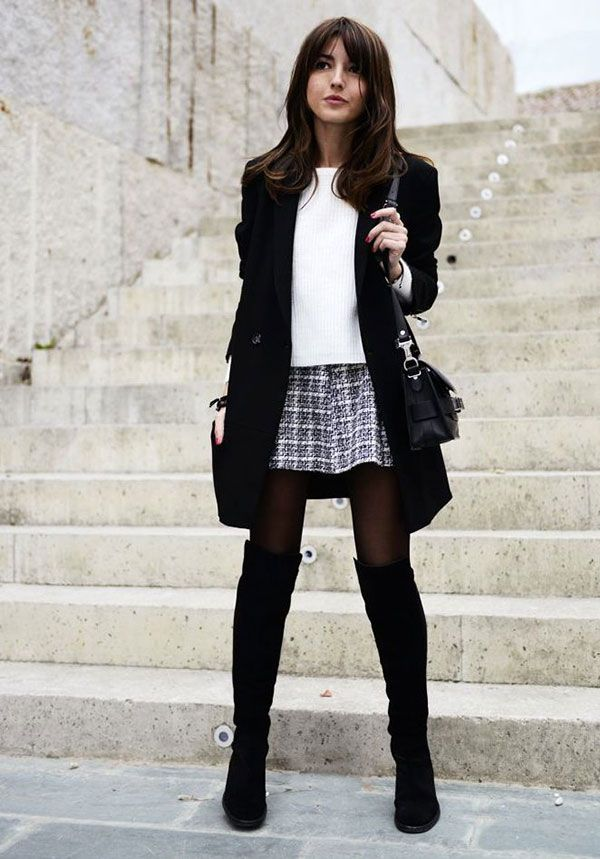 Picture Of stylish and sexy work looks with high boots  16