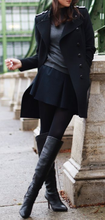 Picture Of stylish and sexy work looks with high boots  17