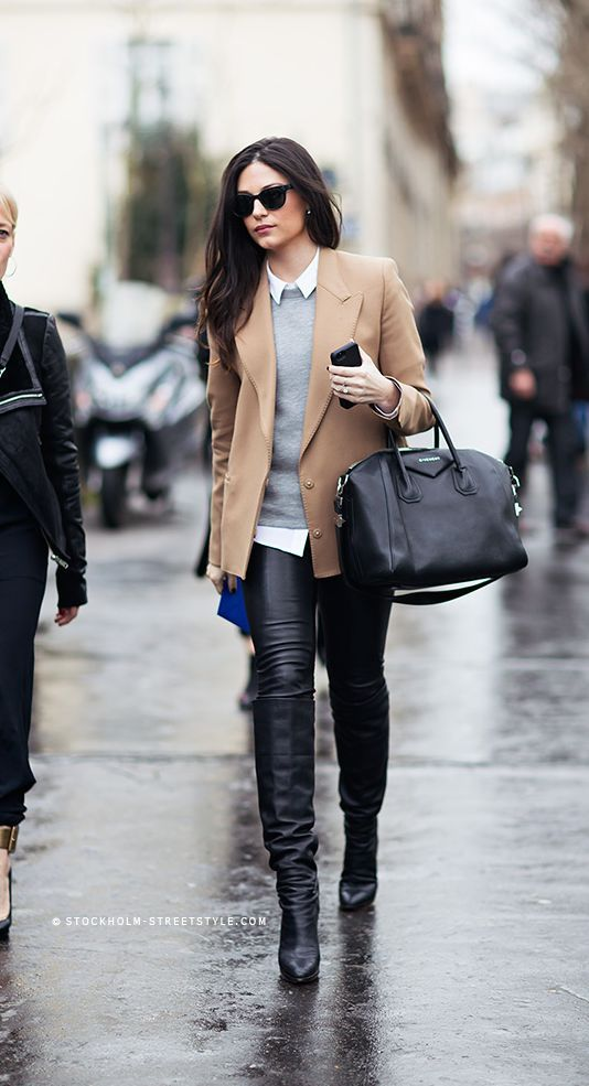 Picture Of stylish and sexy work looks with high boots  5