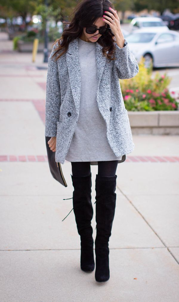 Picture Of stylish and sexy work looks with high boots  7