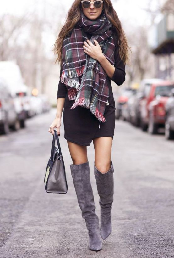 Picture Of stylish and sexy work looks with high boots  9