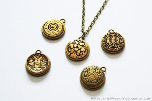 Stylish DIY Button Pendant Necklace