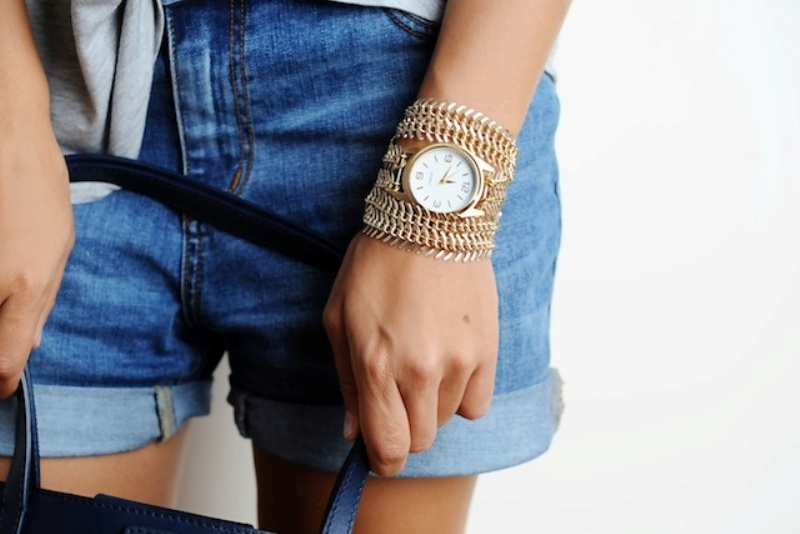 Picture Of stylish diy chain strap watch  1