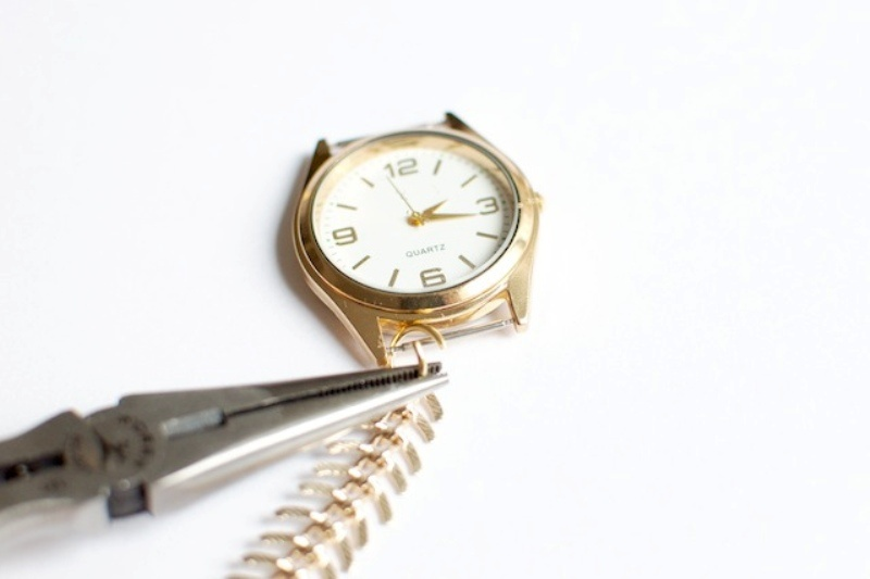 Picture Of stylish diy chain strap watch  5