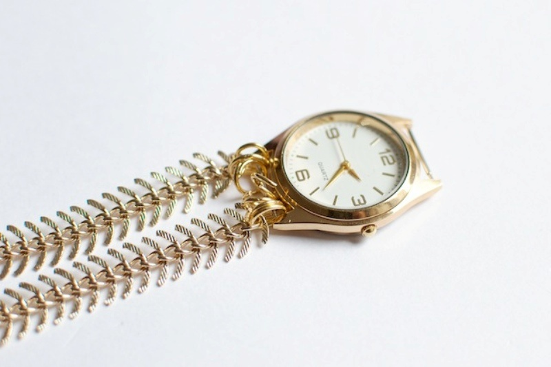 Picture Of stylish diy chain strap watch  6