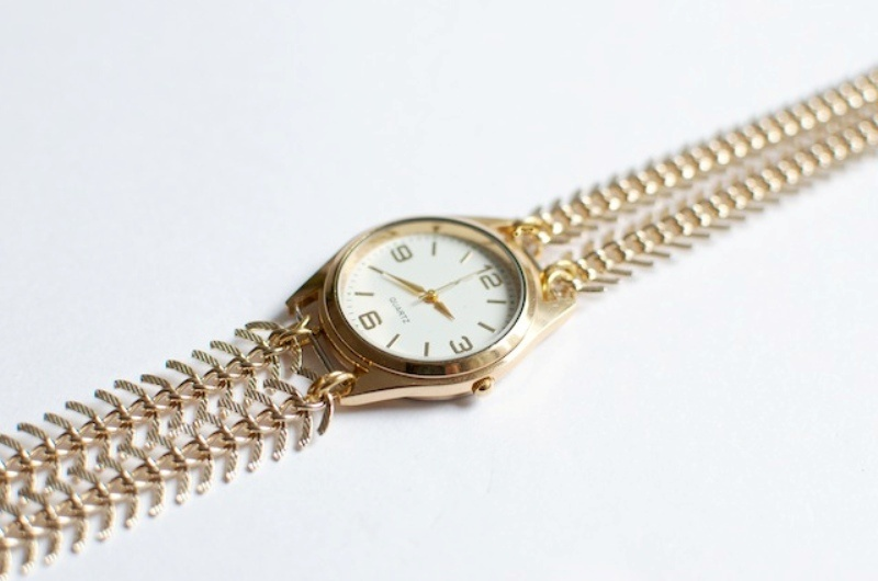 Picture Of stylish diy chain strap watch  7
