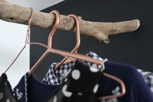 Stylish DIY Copper Clothes Hangers