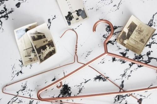 Stylish DIY Copper Clothes Hangers