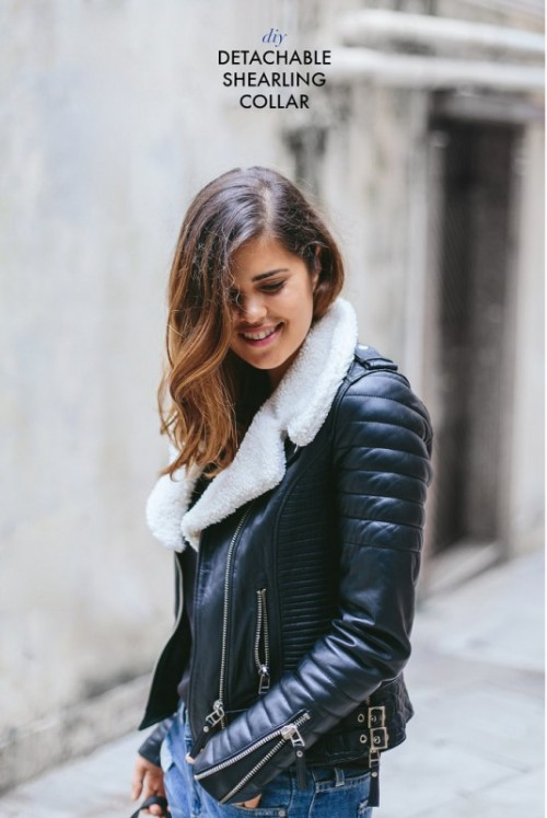 Stylish DIY Detachable Shearling Collar For Your Jacket
